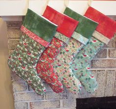 Set Of Four Personalized Christmas Stockings by TheHotBobbin