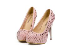 Sparkly heels in light pink!! #heels #shoes #pink
