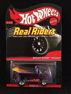 Hot Wheels Redline Club Series 10 RLC Real Riders BEACH BOMB PICKUP Purple V0477 #HotWheels #BeachBombPickup