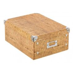 Caja cartón plegable corcho grande
