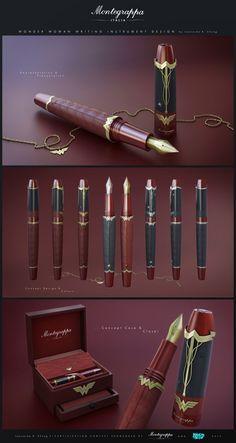 Quand DC Comics et Montegrappa se rencontrent. Luxury Pens, Vintage Pens, Best Pens, Calligraphy Pens, Fountain Pen Ink, Penmanship, Ex Libris, Pen And Paper, Writing Instruments