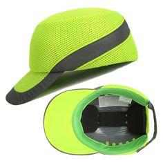 Gerade Bump Cap Arbeit Schutzhelm Mit Reflektierende Streifen Sommer Atmungs Sicherheit Anti-auswirkungen Licht Gewicht Helme Schutz Hut Schutzhelm