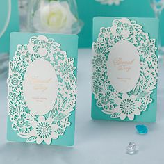 Floral Tri-Fold Wedding Invitation - Set of 50