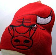 Chicago Bulls Big Logo Skull Cap - NBA Cuffless Beanie by NBA. $15.98