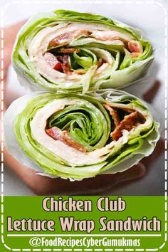 3.3 ★★★★★ - Chicken Club Lettuce Wrap Sandwich, a low-carb (keto) lunch idea that replaces a wheat wrap for a lettuce wrap. Just 5 ingredients, and less than 10 minutes to make! #LowCarbRecipes #Keto #lunch #ketolunch Chicken Club Lettuce Wrap Sandwich #LowCarbRecipes #keto lunch,By Food Recipes Cyber Gumukmas .3.3★★★★★ - Chicken Club Lettuce Wrap Sandwich, a low-carb (keto) lunch idea that replaces a wheat wrap for a lettuce wrap. Just 5 ingredients, and less than…