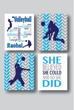 Set of 4 Prints Volleyball Decor Volleyball Print Volleyball Gifts For Girls Personalized Volleyball Gifts Volleyball Decor Bedroom - Funny Volleyball Shirts - Ideas of Funny Volleyball Shirts - Set of 4 Prints Volleyball Decor Volleyball Art Volleyball Volleyball Training, Volleyball Scoring, Volleyball Senior Gifts, Volleyball Locker Decorations, Volleyball Bedroom, Volleyball Crafts, Funny Volleyball Shirts, Volleyball Party, Volleyball Drills
