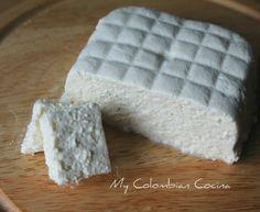 Queso Costeño o Salado –Fresh Salty Cheese. Colombia, food, colombian food, comida colombiana, recetas, recipes