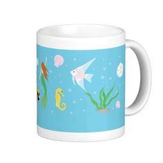 #ocean #mermaid #fish #dolphin #nemo #ariel #coffee #mug