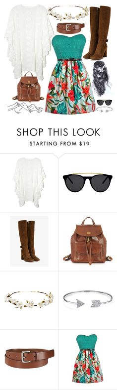 """""""idk what to call this, I just love this dress"""" by ciaran-colleen ❤ liked on Polyvore featuring Jens Pirate Booty, Smoke x Mirrors, Gianvito Rossi, The Bridge, Cult Gaia, Bling Jewelry and Uniqlo"""