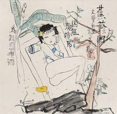朱新建 Zhu Xinjian,蕉荫图