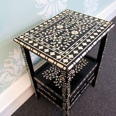 Cutting Edge Stencils: Indian-inlay-stencil-furniture