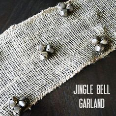 Jingle Bell Burlap Garland