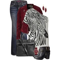 Zebra Top, created by fantasy-closet on Polyvore