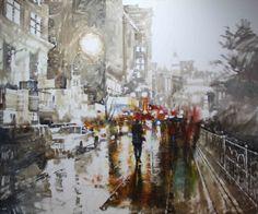 Rainy Streets in Mark Lague's Art