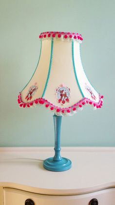 Retro Kitsch Deer Lamp in Green, Blue and Pink on Etsy, $101.16