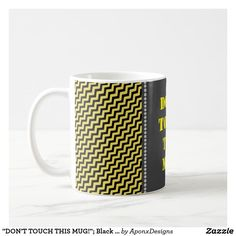 Sip from one of our many Silly coffee mugs, travel mugs and tea cups offered on Zazzle. Custom Mugs, Black N Yellow, Tea Cups, Coffee Mugs, Touch, Tableware, Dinnerware, Dishes, Tea Cup