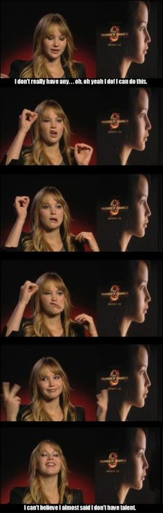 J-Law's Awesome Hidden Talent...it's really funny if you scroll through really quickly
