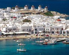 Mykonos Greece Hora Harbor