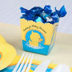 Ducky Duck - Personalized Baby Shower Candy Box Favors