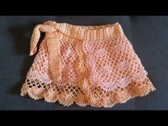 Crochet Skirt Pattern, Crochet Skirts, Crochet Cap, Crochet Tote, Crochet Clothes, Crochet Patterns, Baby Skirt, Crochet Videos, Crochet For Kids