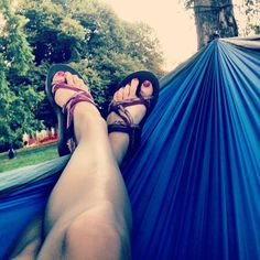Trek Light #hammocks and #chacos #thelife #treklight #loosepark | via @sarahpenn525