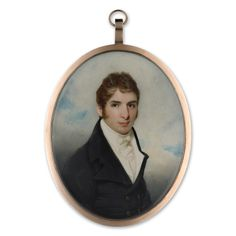 Portrait miniature of a Young Man.  George Chinnery (1774-1852)