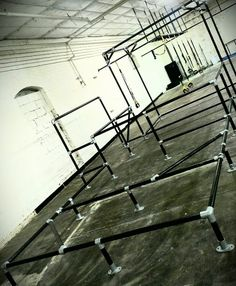 Through Art du Deplacement (Parkour) and MovNat,UrbanMovementteaches people how to move. Urban Movement is located in Houston, Texas and has constructed these obstacles made from Kee Klamp fittings.  These obstacles provide a context for their indoor training. The folks at Urban Movement did an amazing job combining the fittings to create a truely unique structure.