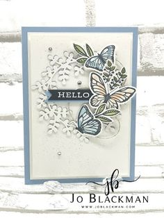 JoBlackman.com: Monday Mashup #27... Butterfly Flowers, Butterfly Cards, Flower Cards, Butterflies, Happy Monday, I Am Happy, On October 3rd, January, Catalogue