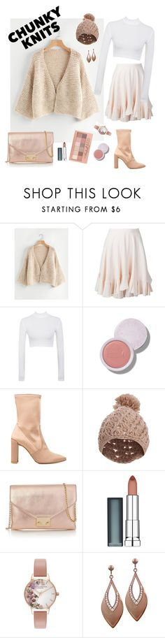 """""""chunky knits"""" by fiqiputri on Polyvore featuring Chloé, Stuart Weitzman, Pilot, Maybelline, Loeffler Randall, Olivia Burton and chunkyknits"""