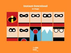 The Incredibles Birthday Banner The Incredibles Birthday   Etsy Printable Birthday Banner, Birthday Flags, Incredibles Birthday Party, Disney Alphabet, Marvel Fan Art, Party Flags, Printable Art, Printables, Rectangle Shape