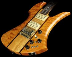 B.C. Rich Short Horn Mockingbird Deluxe Electric Guitar Natural