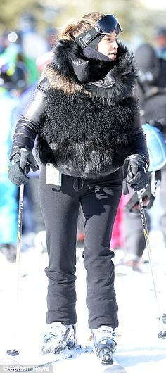 .Here we have Krincess Kim hitting the slopes in some trashy outfit. What a jock she is, right? Or, maybe a snow bunny?