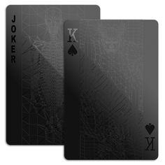 Playing Cards In All Black