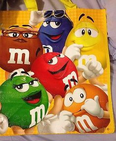Rare Limited Edition-M&M's Reusable Shopping Tote Bag