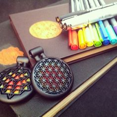 Jameson Siudut Sandblasted Sacred Geometry Pendants heady glass art | Tumblr
