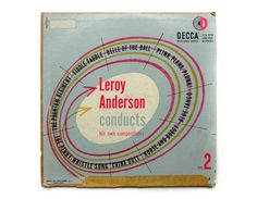 "Erik Nitsche album design, 1951. ""Leroy Anderson Conducts, Vol. 2"". For sale on Etsy at NewDocuments."