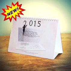 2015 Calendar, Calendar 2015, Fun calendar, photography, Desk Calendar, original calendar, French Wall Decor, French Calendar, New Year