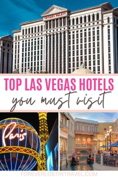 Even if you don't want to do any gambling or partying, the hotels of Las Vegas are an attraction in themselves. Each one has its own theme meaning you can travel from ancient Rome to beautiful Paris, New York City to the Venice canals. All in one day. Here are my top picks for the best Las Vegas hotels, whether you decide to book a room there or not #lasvegas #accommodation #lasvegashotels #travel #foreverlostintravel #uniquehotels #luxuryhotels Best Las Vegas Hotels, Las Vegas Flights, Las Vegas Trip, Best Hotels, Las Vegas Grand Canyon, Trip To Grand Canyon, Travel Ideas, Travel Inspiration, Travel Tips