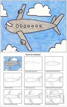 Wie zeichnet man ein Flugzeug