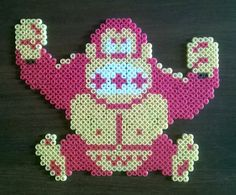 Donkey Kong perler beads by H3XA6RAM