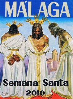Cartel de Semana Santa de #Málaga del año 2010 pintado por José Rando Soto. #cartel #cofradiasMLG #SemanaSanta
