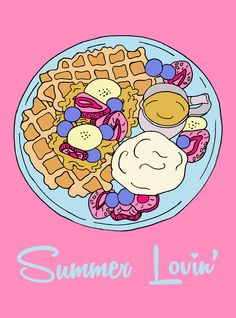 There's something new on the dessert menu that I think you will like! :) Summer Lovin' Waffles with Fruit, ice-cream and Maple syrup. Mmmmmm looks pretty tasty to me ♥   http://www.facebook.com/CharlottePettleyDesign