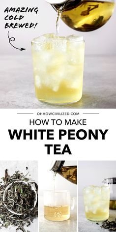 This guide for making white peony tea from Oh, How Civlized is perfect for trying this delicious herbal tea. White peony tea is amazing cold brewed. Grab this guide and try a refreshing white peony hot or iced today! #tea #whitepeonytea #herbaltea #teatime