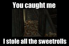 The great mystery of Skyrim's missing sweetrolls has been revealed!