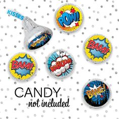 Learn more about our superhero birthday favor stickers, including how to use comic book theme stickers for favors and decorations. Superhero Party Favors, Superhero Birthday Party, Birthday Favors, Boy Birthday, Birthday Invitations, Birthday Parties, Vbs Themes, Theme Ideas, Super Hero Food
