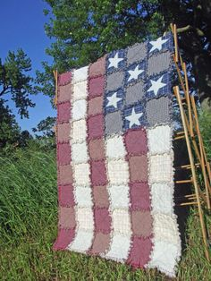 Betsy Ross Rag Quilt by TheLaughingBlackbird on Etsy