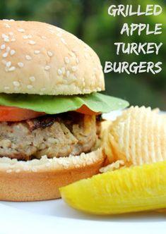 Grilled Apple Turkey Burgers
