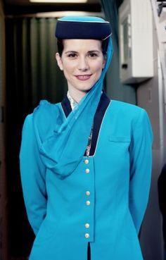 Air crew in Balenciaga-designed uniform, Oman Air
