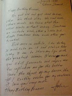 Letter from Johhny Cash to June Carter