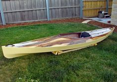 Wood Duck 12 Kayak with an overlay of book matched sliced Black Heart Sassafrass veneer over the deck panels. Built by David H, Low Head, Tasmania